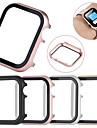 Ochranné pouzdro z tvrzeného skla all-inclusive pro Apple Watch 40mm / 44mm / 38mm / 42mm kovový rám pro Apple Watch Series 5/4/3/2/1