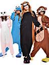 Vuxna Kigurumi-pyjamas Tvättbjörn Björn Djurmönstrad Onesie-pyjamas Polär Ull Syntetiskt Fiber Svart / Brun / Blå Cosplay För Herr och Dam Pyjamas med djur Tecknad serie Festival / högtid Kostymer