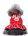Hund Outfits Vinter Hundkläder Röd Jul Halloween Kostym Polyster Djur Semester Rolig S M L XL