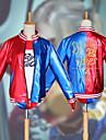 Inspirerad av Självmordsgrupp Harley Quinn Animé Cosplay-kostymer Japanska cosplay Suits Kappa / Topp / Handskar Till Dam / Shorts / T-shirt