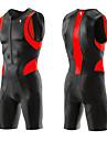 ILPALADINO Herr Kortärmad Triathlondräkt Vit Guld Grön Cykel Andningsfunktion Snabb tork Anatomisk design Svettavvisande sporter Lycra Bergscykling Vägcykling Kläder