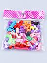 Dockaskor För Barbie Enfärgad Ensfärgat Polyester Skor För Flicka Dockleksak