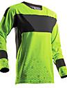 Herr Långärmad Cykeltröja Downhill Jersey Dirt Bike Jersey Grön / Svart Geometrisk Cykel Tröja Motorcykelkläder Överdelar Bergscykling Vägcykling Håller värmen Vindtät Andningsfunktion sporter Vinter
