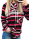 Women\'s Basic Hoodie - Striped Black S