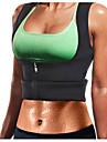 Svettvest Träningsväst för viktminskning Neopren tank top 1 pcs sporter neopren Yoga Motion & Fitness Gym träning Dragkedja Kompression Stretch Viktminskning Tummy Fat Burner Magtonande För Abdomen