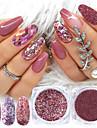 8 box mix glitter nagellack pulver flingor uppsättning holografiska paljetter för manikyr polska nageldekorationer glänsande tips