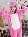 Vuxna Kigurumi-pyjamas Tecknat Onesie-pyjamas Flanell Rosa Cosplay För Herr och Dam Pyjamas med djur Tecknad serie Festival / högtid Kostymer