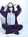 Vuxna Kigurumi-pyjamas Apa Onesie-pyjamas Flanell Svart / Vit Cosplay För Herr och Dam Pyjamas med djur Tecknad serie Festival / högtid Kostymer