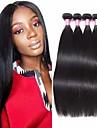 4 paket Brasilianskt hår Rak Äkta hår Hårförlängningar av äkta hår Naurlig färg Hårförlängning av äkta hår Förlängning Heta Försäljning Människohår förlängningar / 8A