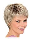 Syntetiska peruker Rak Frisyr i lager Peruk Blond Korta Ljusguldig Syntetiskt hår 8inch Dam Luktfri Moderiktig design Justerbar Blond / Värmetåligt / Värmetåligt