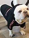 Hund Katt Husdjur Dräkter / Kostymer Jumpsuits Fleece Hoodie Vinter Hundkläder Svart Rosa Halloween Kostym Polyster Citat och ordspråk XS S M L XL