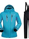 MUTUSNOW Dam Skidjacka och -byxor Vattentät Vindtät Varm Skidåkning Snowboardåkning Vintersport Polyester Träningsdräkter Skidkläder