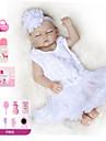 Reborn-dockor Babyflickor 20 tum Full Body Silicone - Barn Unge Unisex Leksaker Present