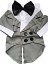 Hund Dräkter / Kostymer Smoking Vinter Hundkläder Svart Grå Kostym Spädbarn Liten hund Husky Labrador Bulldogg Cotton Enfärgad Cosplay XS S M L XL