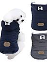 Hund Kappor Huvtröjor Vinter Hundkläder Blå Grå Kostym Husky Labrador alaskan malamute Cotton Enfärgad Håller värmen Vindtät Mode S M L XL XXL