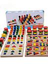 Montessori – pedagogiska leksaker Pinnpussel Matteleksaker Utbilding Häftig Flickor Pojkar Present