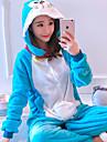 Vuxna Kigurumi-pyjamas Katt Onesie-pyjamas Flanelltyg Blå Cosplay För Herr och Dam Pyjamas med djur Tecknad serie Festival / högtid Kostymer