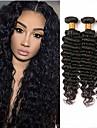 3 paket Brasilianskt hår Stora vågor Äkta hår Human Hår vävar 8-28 tum Hårförlängning av äkta hår Människohår förlängningar / 8A