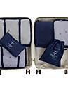 6 uppsättningar Resväska / Travel Organizer / Bagageorganisatör Stor kapacitet / Vattentät / Bärbar Kläder Nättyg Resor / Hållbar / Dubbelsidig dragkedja / Tillbehör väska / Skoväska / Necessär