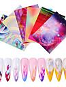 6 pcs 3D Nagelstickers Galax nagel konst manikyr Pedikyr Kreativ Stilig Dagligen
