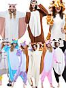 Vuxna Kigurumi-pyjamas Giraff Djurmönstrad Onesie-pyjamas Polär Ull Maroon / Brun / Svart / Vit Cosplay För Herr och Dam Pyjamas med djur Tecknad serie Festival / högtid Kostymer / Trikå / Onesie