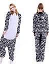 Vuxna Kigurumi-pyjamas Mellan Onesie-pyjamas Flanell Svart / Vit Cosplay För Herr och Dam Pyjamas med djur Tecknad serie Festival / högtid Kostymer