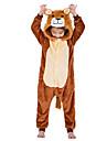 Barn Kigurumi-pyjamas Lejon Onesie-pyjamas Flanelltyg Kaffe Cosplay För Pojkar och flickor Pyjamas med djur Tecknad serie Festival / högtid Kostymer