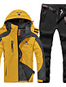 Men\'s Hiking Jacket with Pants Winter Outdoor Patchwork Waterproof Windproof Comfortable Heat Retaining Jacket Camping / Hiking / Caving Traveling Winter Sports Black / Army Green / Green
