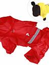 Hund Katt Husdjur Regnjacka Prydnader Hundkläder Kamoflagefärg Gul Röd Kostym Dalmatiner Japanske Spitzer Beagle Akrylik Fiber Kamuflasje Enfärgad Sport och utomhus Ledig / Sportig XS S M L XL XXL