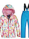 MUTUSNOW Flickor Skidjacka och -byxor Håller värmen Vattentät Vindtät Skidåkning Snowboardåkning Vintersport Bomull Terylen Flanell Träningsdräkter Skidkläder
