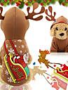 Hund Katt Huvtröjor Väst Jul Hundkläder Brun Kostym Husky Labrador alaskan malamute Polyester Duk Blandat Material Jul XS S M L XL XXL