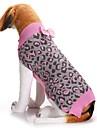 Hund Tröjor Vinter Hundkläder Rosa Kostym Corgi Beagle Shiba Inu Akrylik Fiber Leopard Rosett Rosett Minimalistisk Stil XXS XS S M L XL