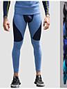 Herr Tights för jogging Elastan Lappverk sporter Underkläder Leggings Kompressionsbyxor Löpning Fitness Gym träning Träning Andningsfunktion Fuktabsorberande Snabb tork Mode Marinblå Grå Påfågel-bl