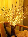 75cm Willow Branch LED Night Light 20 LEDs Christmas Decor Flexible Warm White White Multi Color Thanksgiving Day Christmas Waterproof Party Decorative AA Batteries Powered