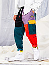 Herr Joggerbyxor Manchesterbyxor Manchestertyg streetwear Snörning sporter Vinter Byxa Underdelar Löpning Fitness Mjuk Färgblock Mode Svart / Elastisk