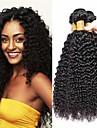3 paket Kinky Curly Äkta hår Obehandlat Mänsligt hår Human Hår vävar Hårvård bunt hår 8-28 tum Naurlig färg Hårförlängning av äkta hår Len Sexig Lady Bästa kvalitet Människohår förlängningar / 8A