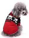 Hund Tröjor Vinter Hundkläder Röd Kostym Corgi Beagle Shiba Inu Akrylik Fiber Dödskalle Ledigt / vardag Halloween XXS XS S M L XL