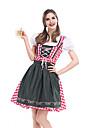 Karnival Oktoberfest Dirndl Trachtenkleider Dam Kjol Klänning Bavarian Kostym