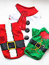 Hund Tröja Hundkläder Vit Grön Röd Kostym Mops Pudel Chihuahua Cotton Tecknat Cosplay Jul XS S M L