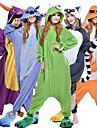Vuxna Kigurumi-pyjamas Monster Blått Monster Djurmönstrad Onesie-pyjamas Polär Ull Svart / Purpur / Orange Cosplay För Herr och Dam Pyjamas med djur Tecknad serie Festival / högtid Kostymer