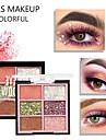 sexfärgade mosade ögonskuggor vattentäta hållbara paljetter pärlemorsmatt matt ögonkosmetik
