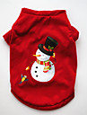 Hund Tröja Vinter Hundkläder Röd Kostym Mops Pudel Chihuahua Cotton Tecknat Jul Cosplay Jul XS S M L