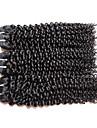 """3 paket Brasilianskt hår Kinky Curly Obehandlad hår Obehandlat Mänsligt hår Human Hår vävar 10""""~28"""" Naturlig Hårförlängning av äkta hår Naturlig Bästa kvalitet Till färgade kvinnor Människohår"""