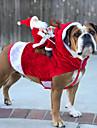 Hund Kappor Vinter Hundkläder Kostym Husky Akrylik Fiber Cotton Jul Häftig Jul XL