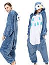 Vuxna Kigurumi-pyjamas Uggla Djurmönstrad Onesie-pyjamas Flanell Blå Cosplay För Herr och Dam Pyjamas med djur Tecknad serie Festival / högtid Kostymer