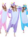 Vuxna Kigurumi-pyjamas Unicorn Ponny Onesie-pyjamas Polär Ull Purpur / Blå / Rosa Cosplay För Herr och Dam Pyjamas med djur Tecknad serie Festival / högtid Kostymer / Trikå / Onesie / Trikå / Onesie