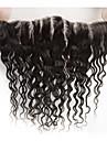 Yavida Brasilianskt hår 4x13 Stängning / fri del Fuktig Fria delen Schweizisk spetsperuk Äkta hår Alla med babyhår / Silkig / Afro-amerikansk peruk Bröllop / Grattis / Fest