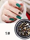 1 pcs Bästa kvalitet Bergkristall Nagelsmycken Paljetter Till Fingernageö Kreativ 3D nagel konst manikyr Pedikyr Jul / Speciellt Tillfälle / Halloween Trendig / Mode