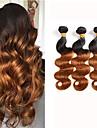 3 paket Brasilianskt hår Kroppsvågor Obehandlad hår Nyans 8-24 tum Nyans Hårförlängning av äkta hår Människohår förlängningar / 10A