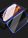 Capinha Para Apple iPhone 11 / iPhone XR / iPhone 11 Pro Antichoque / Transparente / Dupla Face Capa Protecao Completa Transparente / Solido / Armadura Vidro Temperado / Metal
